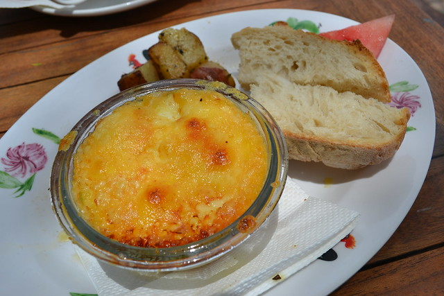 Baked Eggs with Toast Soldiers at Epicurious at Robertson Quay