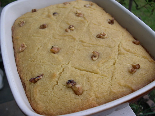 The vegan mouse greek beans lebanese rice and egyptian basbousa for dessert egyptian basbousa this is a very sweet semolina cake that has been drenched with sugarorange flower water syrup i got the recipe here forumfinder Image collections