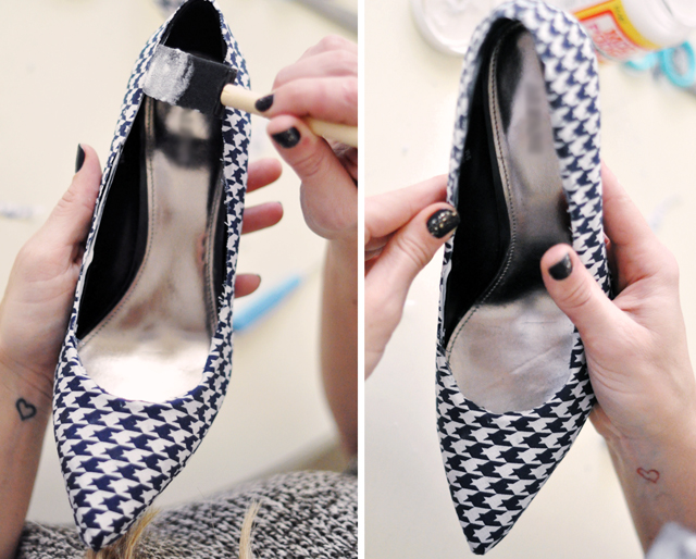 Houndstooth Shoes DIY - 25-1