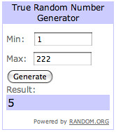 birthday giveaway winner.