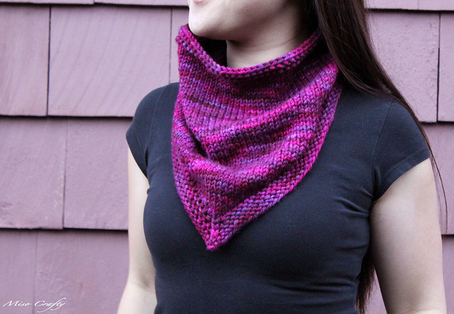 Miso Crafty Knits Finished Sweet Berry Bandana Cowl