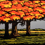 "<b>Autumn Delight</b><br/> Moore ('72) (Woodcut)<a href=""http://farm7.static.flickr.com/6226/6344845236_2e6ede58ca_o.jpg"" title=""High res"">∝</a>"