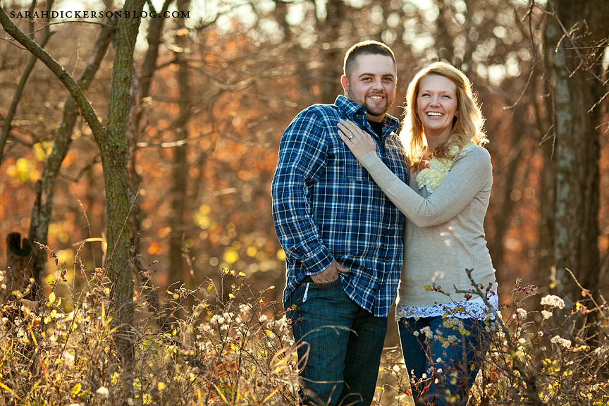 Shawnee Mission Park Kansas engagement photographs