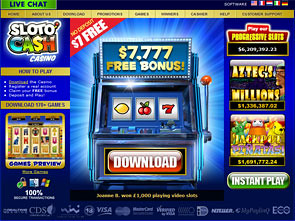 Sloto Cash Casino Home