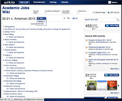 The Academic Jobs Wiki
