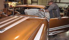 "1956 Oldsmobile 88 Ez Boy Interior Install • <a style=""font-size:0.8em;"" href=""http://www.flickr.com/photos/85572005@N00/6348180460/"" target=""_blank"">View on Flickr</a>"