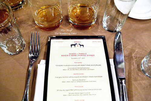 Saxon + Parole Maker's Mark Pairing Dinner
