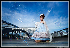 Bubbles Misa@Tenma (Ilko Allexandroff (a.k.a. sir_sky)) Tags: street light portrait people woman white black slr art girl beautiful fashion japan umbrella canon shopping dark hair asian photography google interesting glamour women emotion bokeh good feminine awesome flash bubbles explore more most portraiture osaka dslr tenma      naniwa ilko   asianbeauty 50d    strobist canon50d    beautyshoots 1xcom allexandroff   imghp