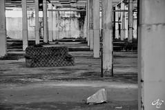 Film & Pop Corn (LaKry*) Tags: blackandwhite abandoned industry blackwhite factory decay columns sofa lonely divano industria solitario biancoenero colonne fabbrica abbandonato schio decadimento exlanerossi lanerossi