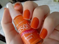 Laranja Siena - Risqu (BrunaaHasckel) Tags: nails unhas risqu esmaltes