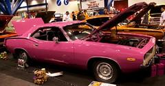 1973 Cuda (Bill Jacomet) Tags: auto show pink brown car george downtown texas plymouth houston center r convention mopar panther cuda barracuda 1973 73 autorama 2011