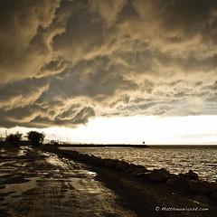 Low Sky (mattwiskas) Tags: road sea sky mer rain clouds low pluie matthieu route ciel nuages bas etang berre wassik