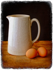 Milk and eggs (view[  ]finder) Tags: food milk eggs pitcher