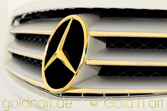 Mercedes CL 500 (Gold'n art modern) Tags: 24karat vergolden vergoldung goldenart goldnart