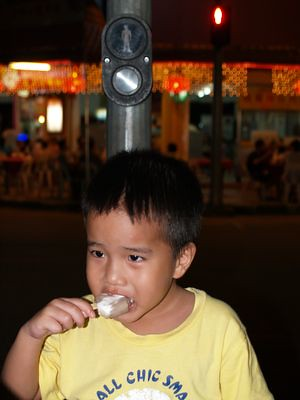Julian eating ice-cream