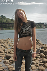 ya dig? (365daysofsarav) Tags: river model rocks waterfront augusta midriff uploadedviaflickrqcomgirl