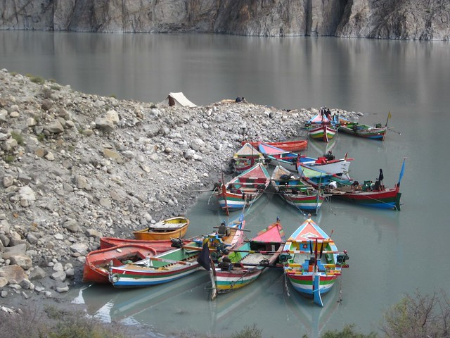 Attabad lake crossing, Pakistan.
