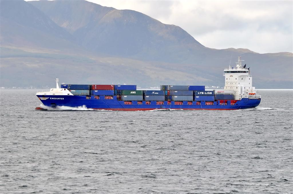 Encounter, firth of clyde.picture taken from calmac ferry