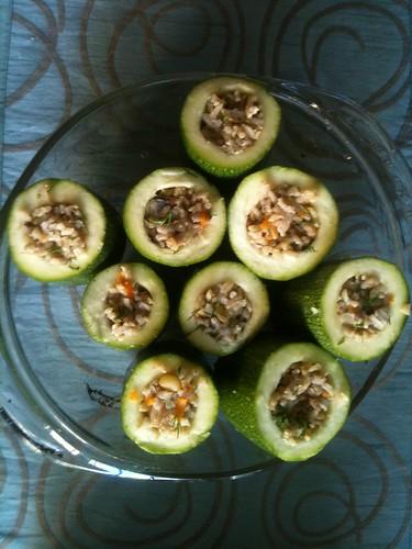 Stuffing Zucchinis