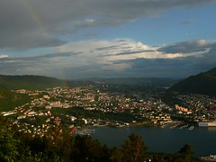 View over rstad from Flyen, Bergen, Norway (Ferry Vermeer) Tags: travel norway norge rainbow day cityscape view cloudy norwegen aerialview noruega bergen norra birdseyeview hordaland norvegia floyen flyen kronstad sevenmountains vestlandet nauy flien noorwegen haukeland noreg aerialperspective norvge slettebakken norja travelphotography rstad  noregur  bjrgvin  norwegia haukelanduniversityhospital norve flyfjellet norga birdseyeperspective bergena westernnorway  bjrgvin haukelanduniversitetssjukehus  desyvfjell   vestnorge  haukelanduniversitetssykehus  arstad bergenas   alrekr  vestnoreg sevenmountainsofbergen alrekstad lreksstair sevenmountainsbergen ferryvermeer beirgen slettebakkenelementaryschool    nuruwai