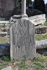 Roman lettering left behind