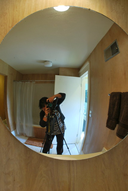 Me shooting a bathroom