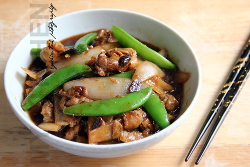 Stir-fried pork with ginger and preserved soy bean
