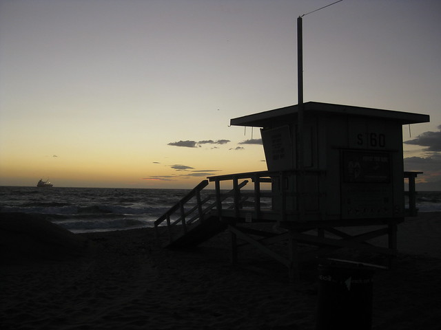 Lifeguard Hut After Sunset