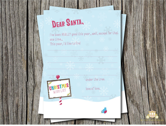 Retro Letter to Santa - FREE PRINTABLE