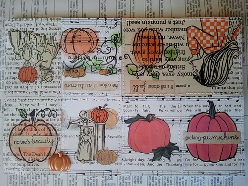 Pumpkin Tiny Book Collage