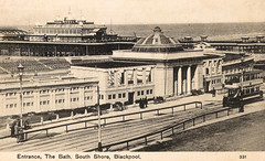 Blackpool - South Shore - The Bath (tipsy1topsy1) Tags: old pool wheel french early weimar aftermath war republic postcard south great nostalgia german shore baths nostalgic classical 1983 dusseldorf spectators 1986 1928 blackpool ruhr demolished troops 1925 lido openair 1923 occupation tredegar bathers 1896 reparations 45bsb73 25081925
