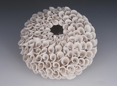 Sea Blossom (White Earth Ceramics) Tags: flower ceramics handmade petal weddinggift porcelain homedecor sculpure ceramicspottery giftforher whiteearthstudioetsycompeturns vasewhitepottery liddedcontainerwhiteearthstudioetsycom
