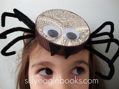 bottle cap spider hat tutorial