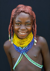 Mwila Girl Oncula On The Hair, Chibia Area, Angola (Eric Lafforgue) Tags: africa portrait people tourism girl childhood vertical dreadlocks female youth standing person one beads kid child tribal innocence tribe humanbeing plaits oneperson huila colorphoto angola headandshoulders tourismo southernafrica mwela lookingatcamera ethnicgroup traditionalhairstyle    chibia mumuhuila mwila      southangola mumuhuilatribe mwilatribe nontombi oncula ango2971