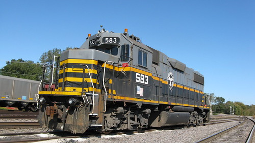 Belt Railway of Chicago radio controlled EMD roadswitcher # 583 at the East 95th Street coal yard.  Chicago Illinois USA. Saturday, October 15th, 2011. by Eddie from Chicago