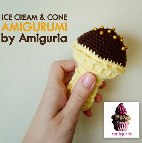 Ice cream & cone amigurumi by Amiguria by Amiguria