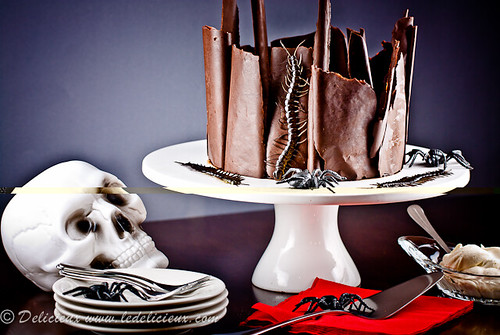 Halloween Black Forest Cake by ledelicieux