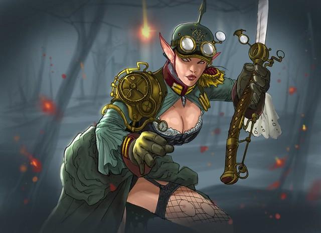 arwen LOTR Steampunk kelvin chan rocketraygun