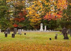 Not the Son of a Man (Wicked Dark Photography) Tags: morning autumn color fall nature cemetery grave graveyard landscape headstones nh graves foliage gravestone tombstones burialground gravemarkers nh:project=cemetery