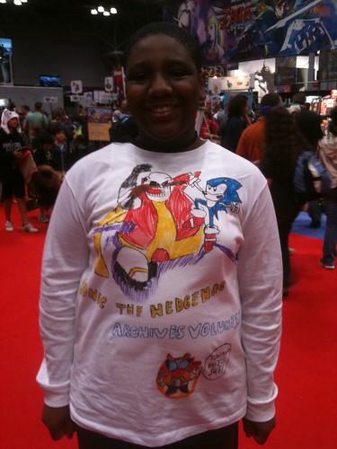 handmade Sonic shirt - front