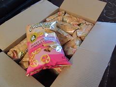 Box of CheeCha Puffs