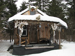 My lil ole cabin...... (~ CRAIGER~) Tags: trees wild camp forest woodland skulls cabin woods peace witch spirit earth wildlife magic prayer north mother moose east swamps swamp wise bones brook shack spirituality wisdom northern voodoo motherearth backwoods keeper