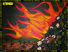 TOBARU - THESE ARE THE NEWS !! (juan_tobaru) Tags: street new york city news art japan skulls real tokyo stencil war grafitti juan united fine arts rage hide revolution anarchy states helmets casualties the tobaru