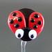 Single bead : Ladybug