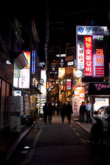 street of seoul (Arpad Anderegg) Tags: street city night nikon nacht strasse korea seoul stadt d3