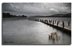 Rainclouds over Coniston Water [Explored] (pete stone) Tags: uk longexposure england lake storm water landscape nationalpark jetty lakedistrict windy stormy cumbria coniston rainclouds canoneos5d conistonwater skyascanvas