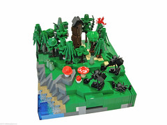 WarScape: Vol2; Chapter 3 of 5 (Blake's Baericks) Tags: wood plants tree castle classic scale mushroom water grass leaves coral forest spider dragon lego contest size micro ccc blake snot mcc catapult baer trebuchet cccc microscale siercon
