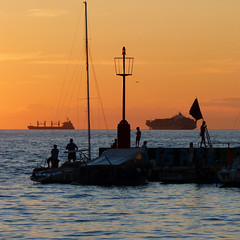 Koper harbour silhouettes (Bn) Tags: sunset sea summer sun holiday man men travelling boys club standing port marina watercolor season geotagged boats outdoors evening togetherness coast boat fishing fisherman italian holding mediterranean sailing afternoon hand time yacht outdoor quality seagull small border young hats sailors cruising lovers slovenia enjoy captain rod waters recreation piran sailboats popular peninsula ambience navigation bait cruises adriatic seacoast reel courses territorial koper izola angelers slovene pirano portoro nautics gulfoftrieste bayofpiran gulfofpiran nauticalyachts geo:lon=13724794 geo:lat=45547721