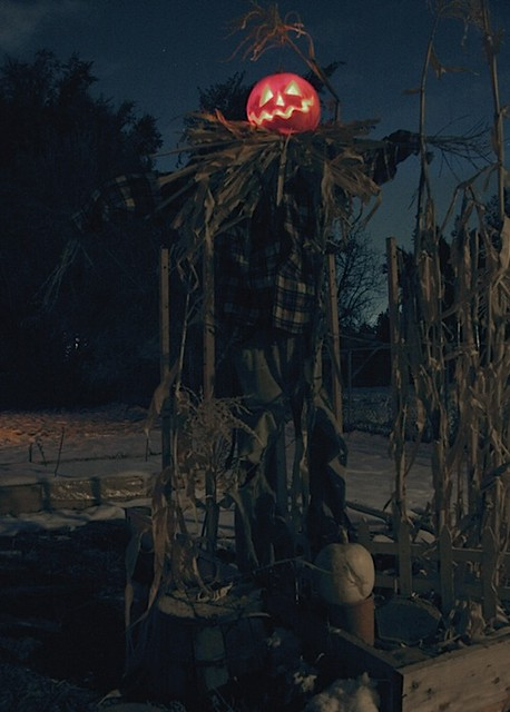 October 28, 2011 - from spooky Halloween photography of a pumpkin head scarecrow in the snow - by Robert Aaron Wiley for Bindlegrim