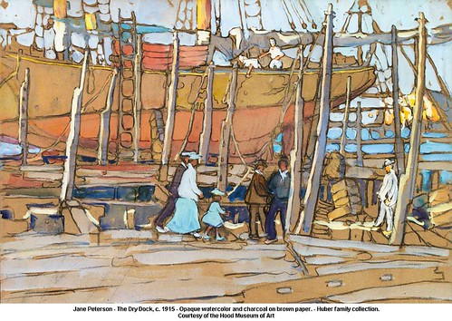 Jane Peterson - The Dry Dock, c. 1915 by artimageslibrary